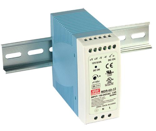DIN priemerná studňa MDR-60-48 48V 1,25A 60W Napájanie