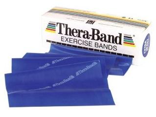 Thera Band Cvičenie pásky 2,5 m modrá guma
