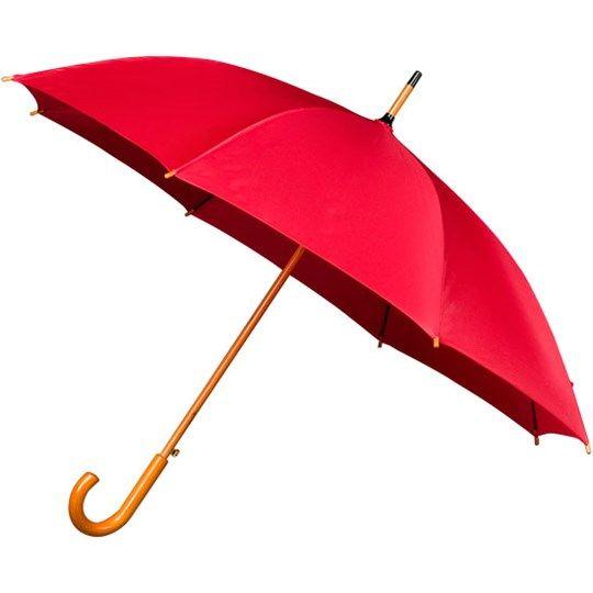 Automatický dlhý dáždnik s drevenou rukoväťou