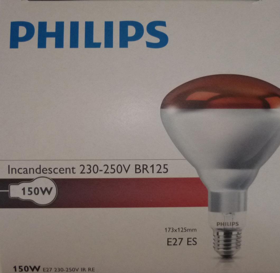 Bulbová lampa Kwoka Radiátor 150W Black Philips