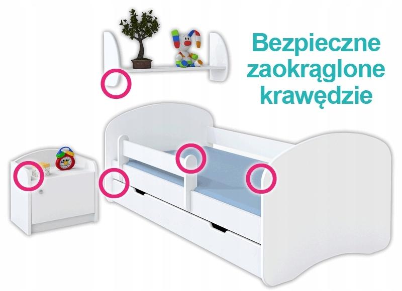 Купить Детская кровать HAPPY 180x90 с ящиком - БЕЛЫЙ на Otpravka - цены и фото - доставка из Польши и стран Европы в Украину.