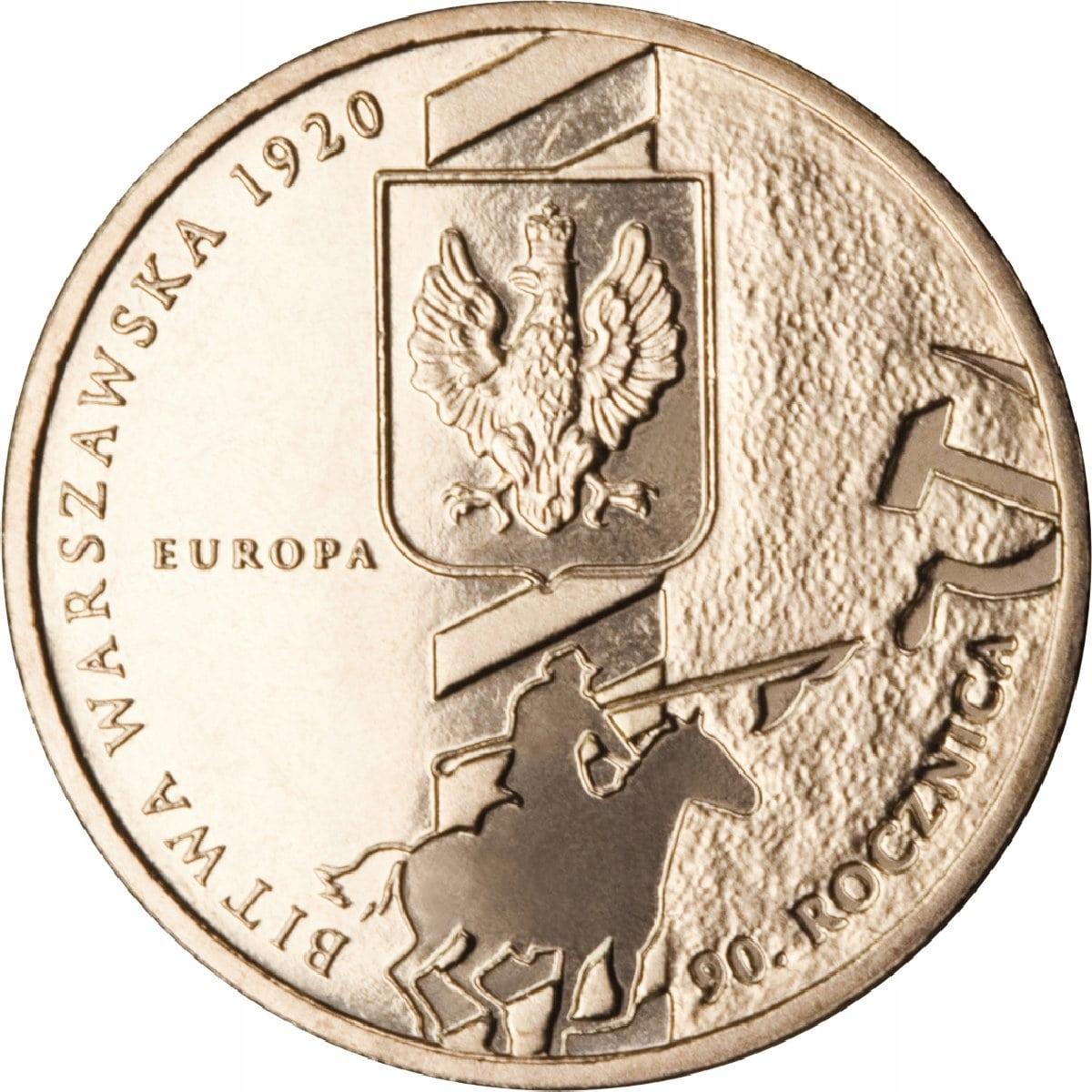 Moneta 2 zł Bitwa Warszawska