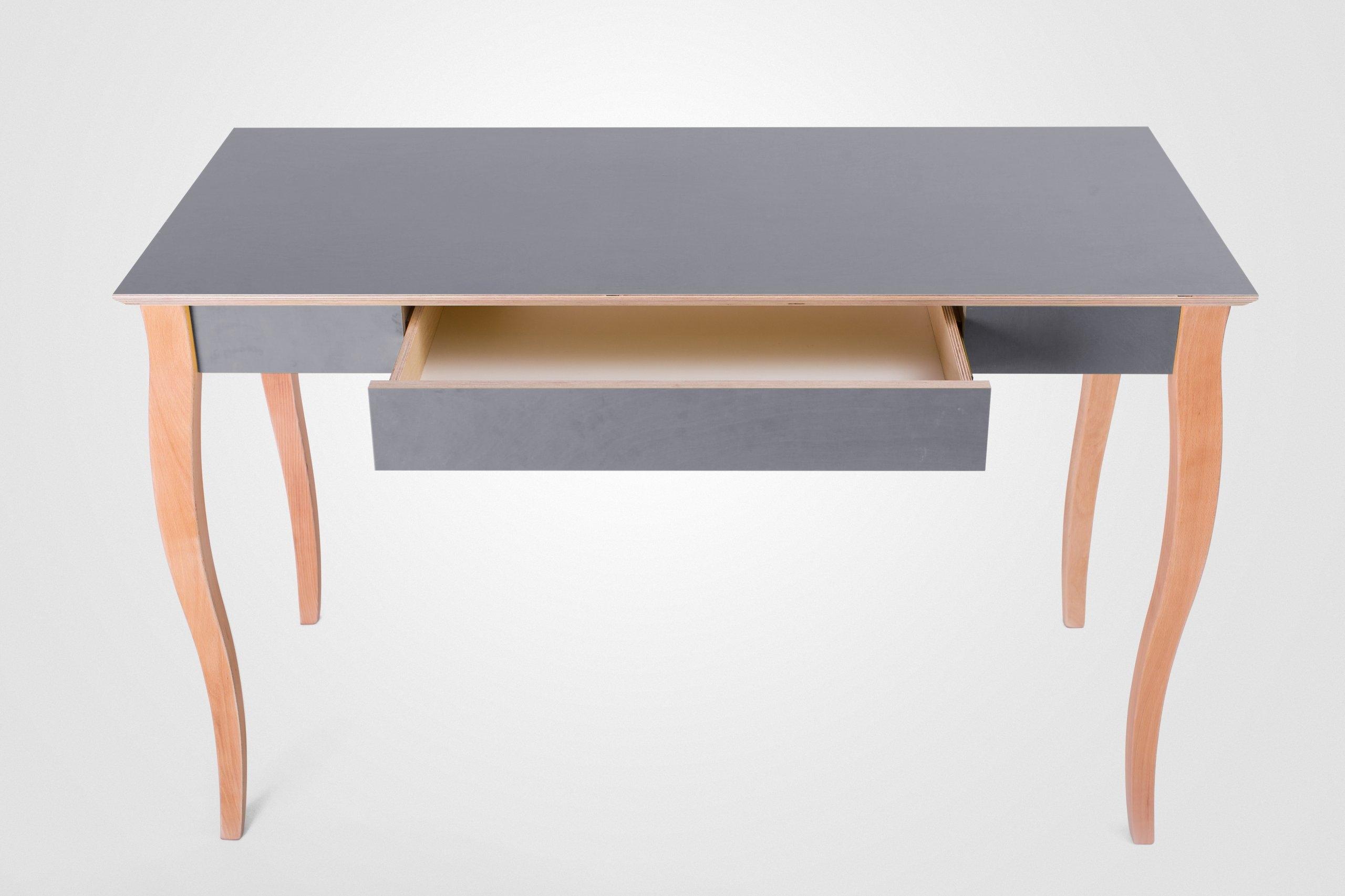 MODERNÝ písací Stôl so zásuvkou Úloh šedá tabuľka