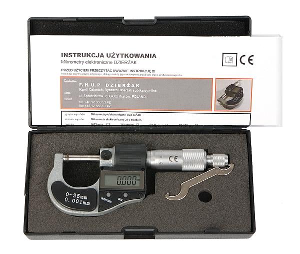 Elektronický mikrometer 0-25mMDOKRUHOVACÍ