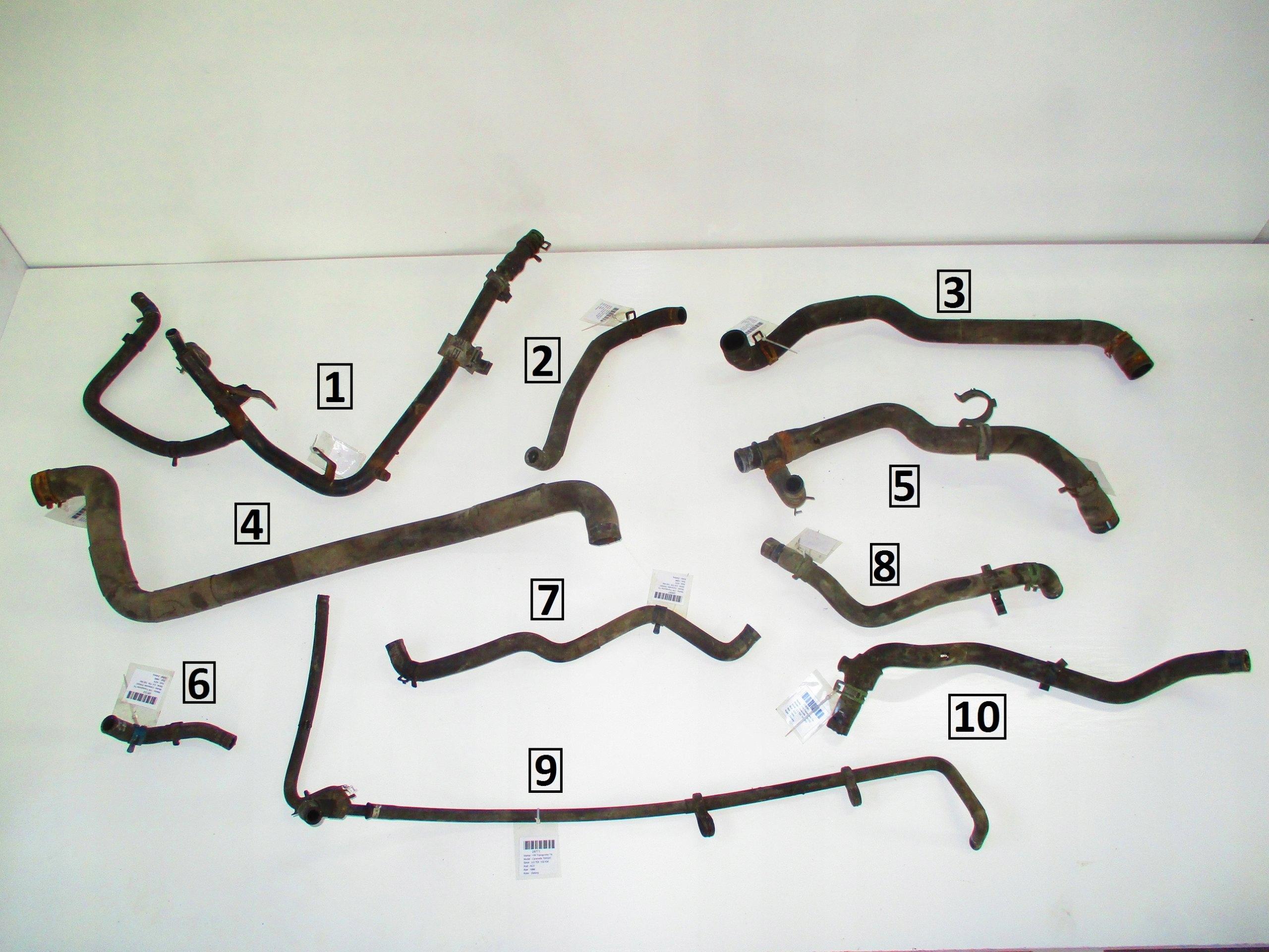 vw t4 25 tdi 95-03 шланг кабель воды крк