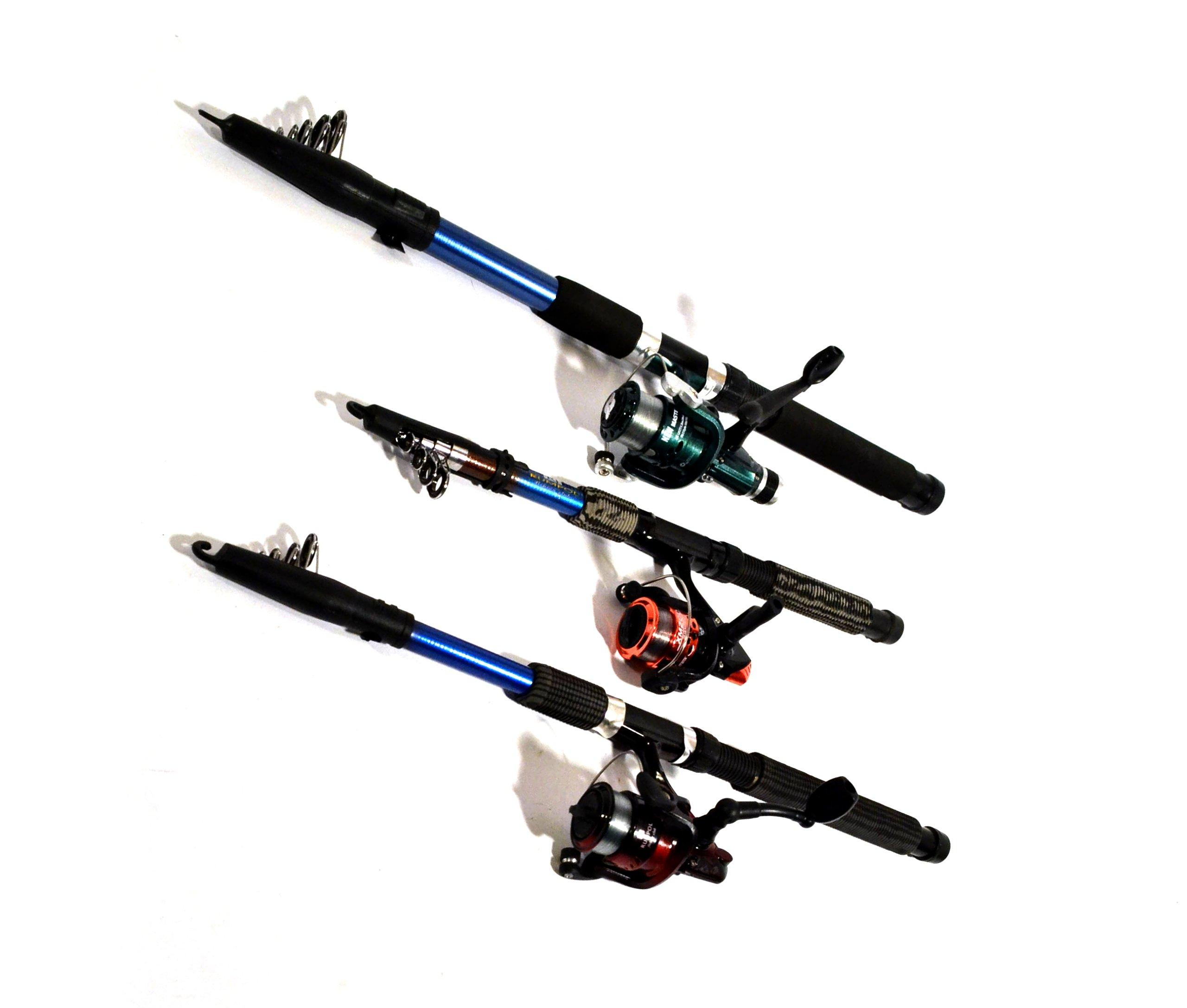 комплект 3 удочки 3 kolowrotki грунт  спиннинг