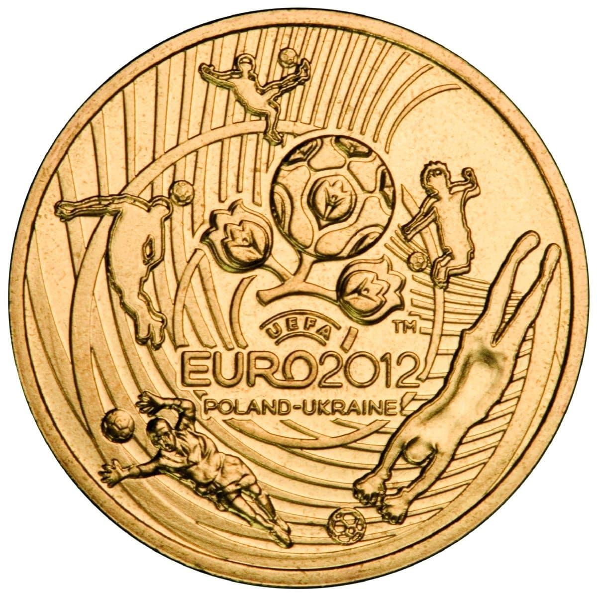 Монета 2  УЕФА Евро 2012