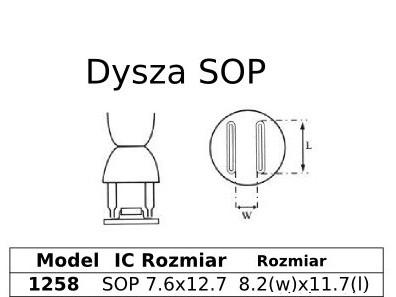 Spájkovacia dýza HotAir SOP 7,6x12,7 1258