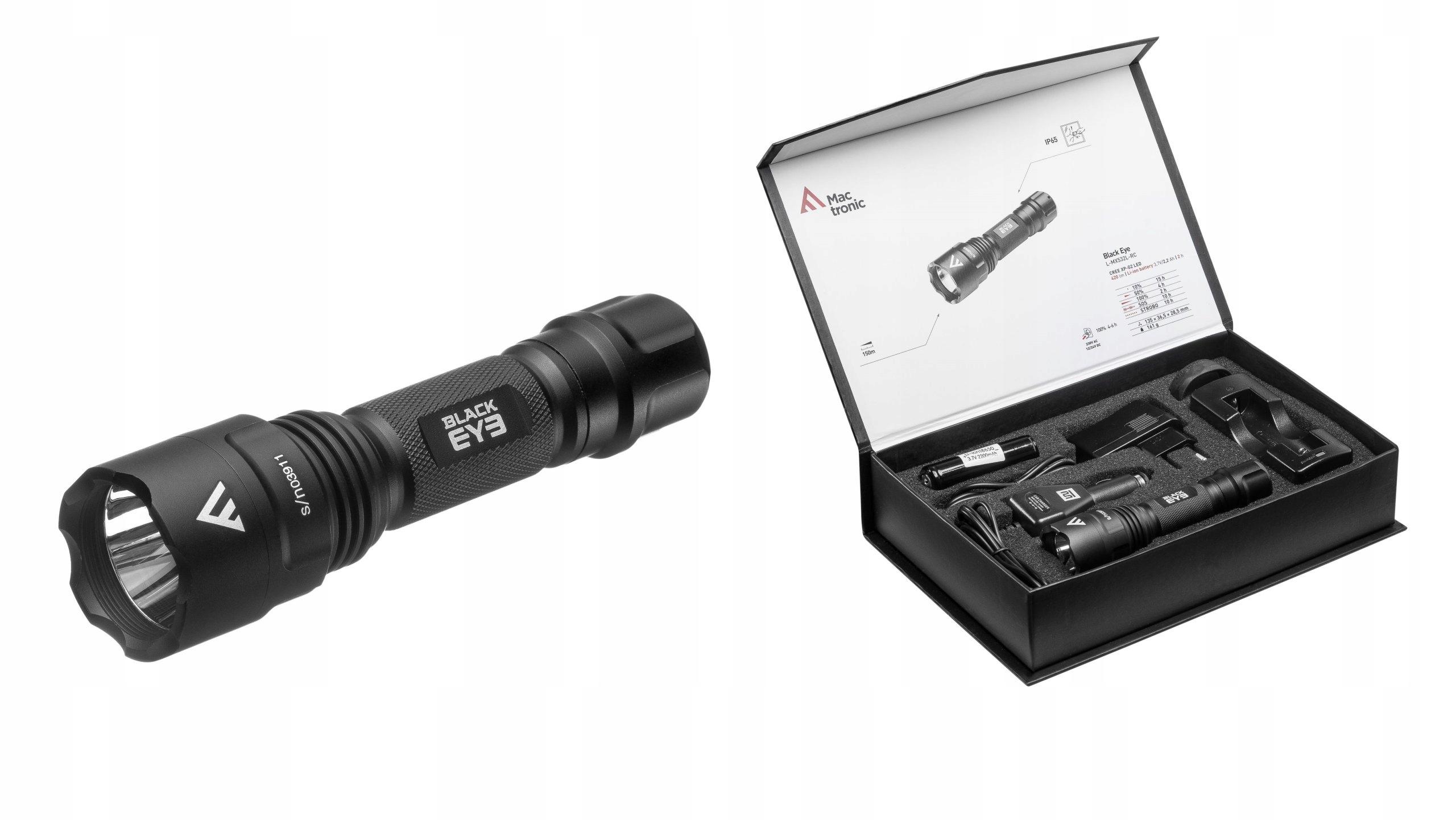 Baterka MACTRONIC Black Eye MX532L-RC 420lm