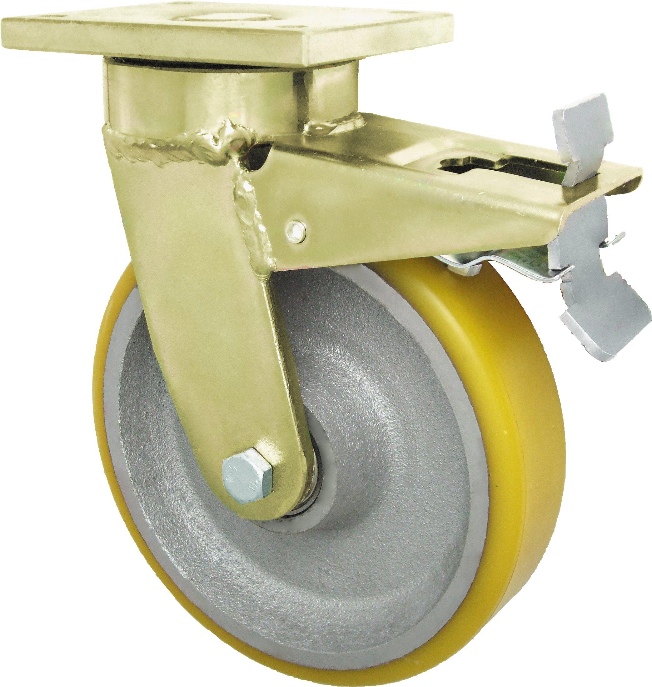 fi 250 Koła żeliwne skrętne z hamulcem 1000kg koło