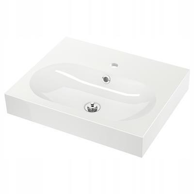 IKEA BRAVIKEN umývadlom, biela