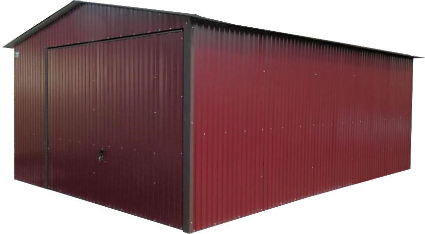 Жестяные гаражи 4x6. ШТОРКА Garage Cherry RAL 3005