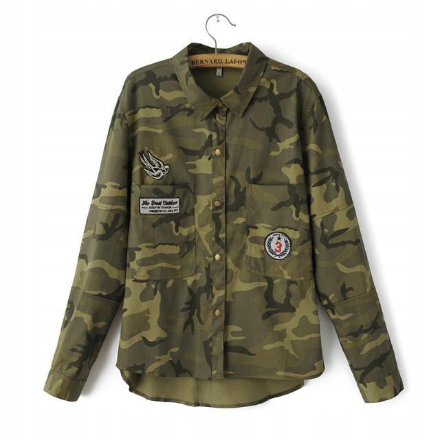 Bunda ženy bunda kamufláž vojenské vintage M 38