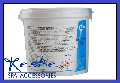 Chemikálie umývadlo bazéna chlórové šokové granule 5kg fv