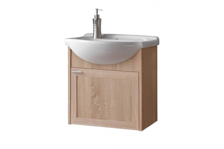 Steny Skrine dub s keramické umývadlo 50 cm