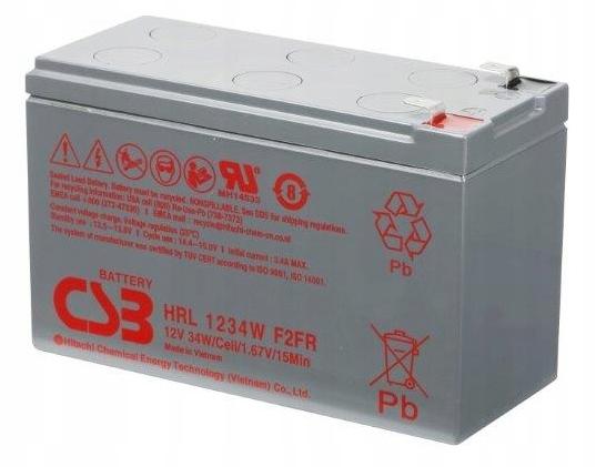 AGM Гелевый аккумулятор CSB HRL 1234 WF2 (12 В, 9 Ач)