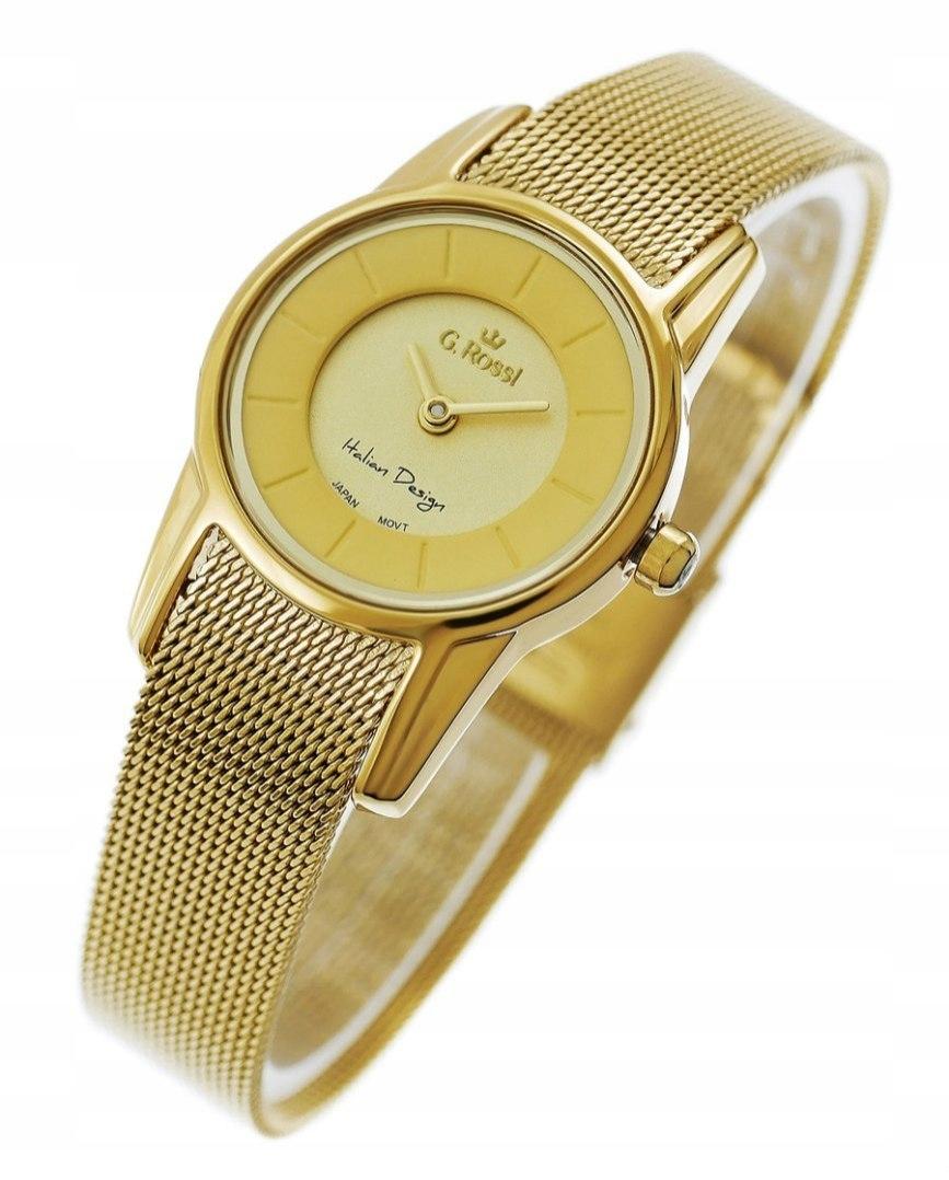 Markowy Złoty Zegarek damski Gino Rossi 11920A