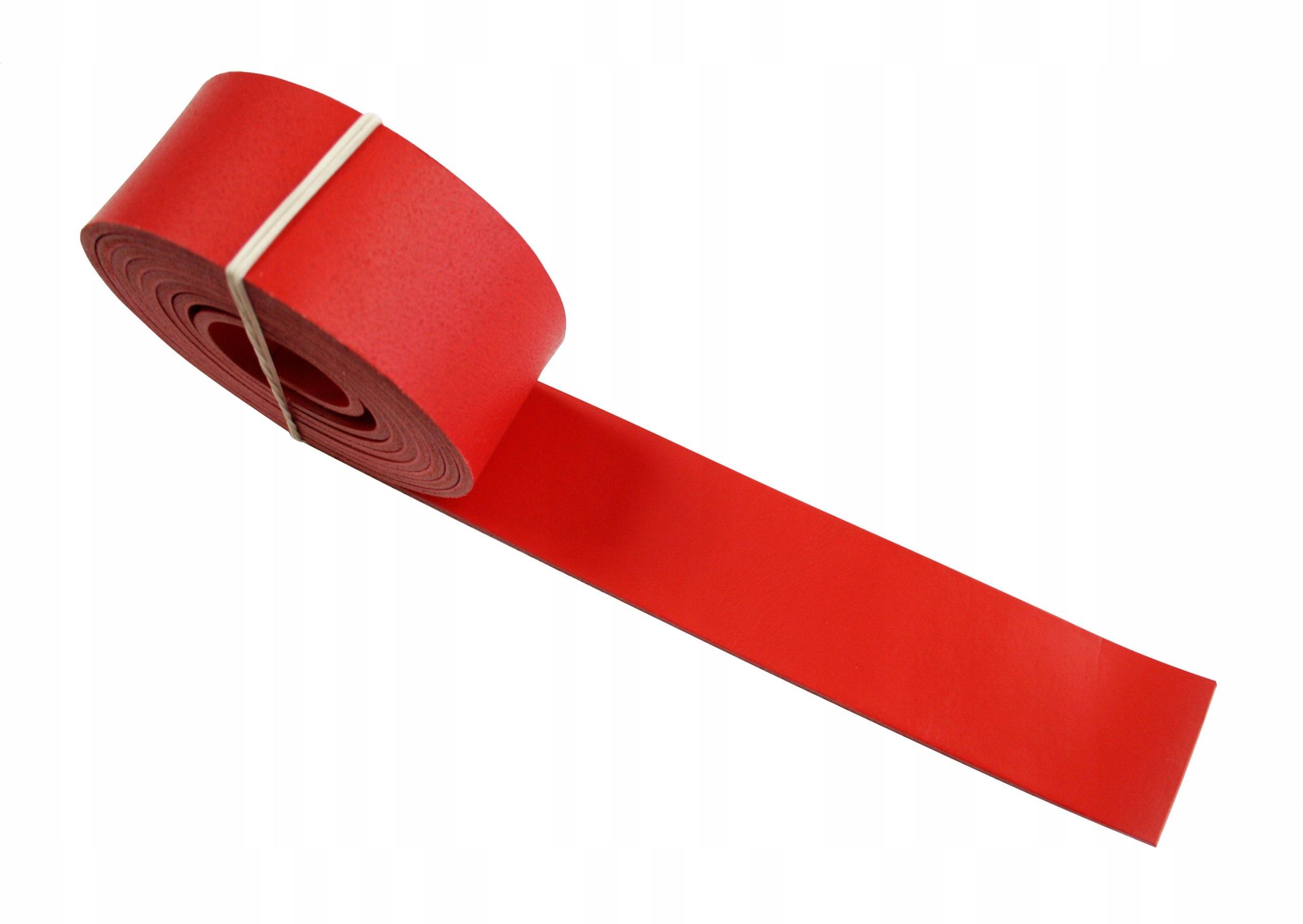 Купить Кожаный ремешок для твоя 60 мм ~200см - красный на Otpravka - цены и фото - доставка из Польши и стран Европы в Украину.
