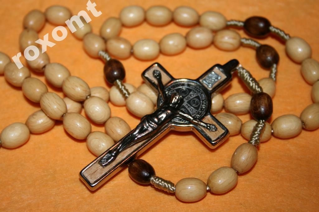Mega Ruženec Kríž medaily sv. Benedikt 92cm JS