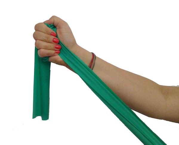 Cvičenie gumy pásky 2,5 m Priemer Zelená QMED