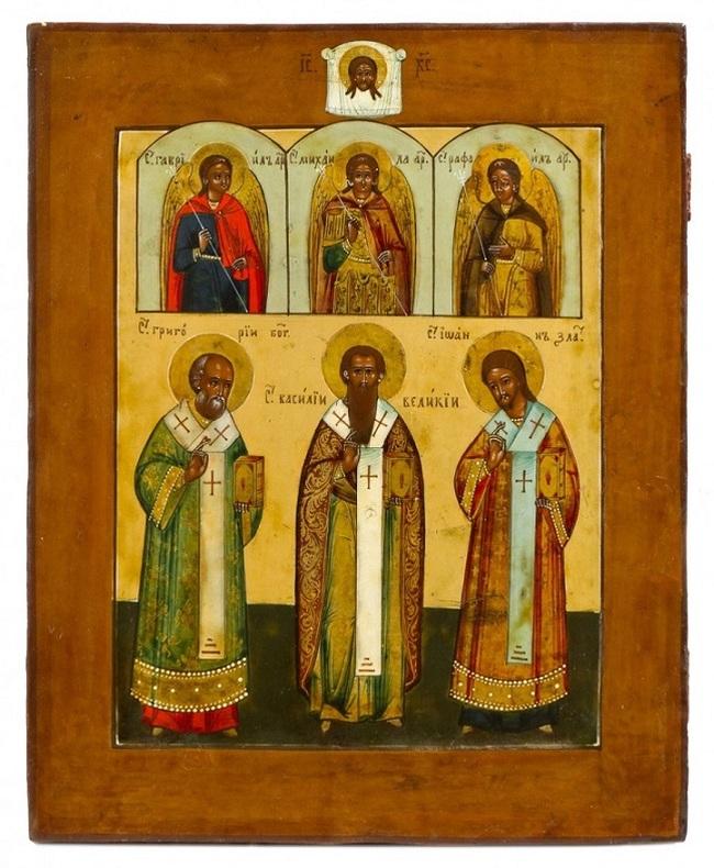 Ikona - Saints otcovia kostola, Ruska, XIX / XX storočia