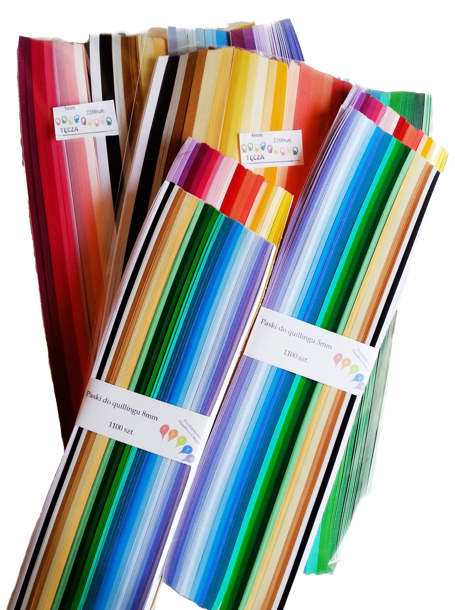 Item Strips for quillingu 3,4,5,8 mm 6600szt. QUILLING