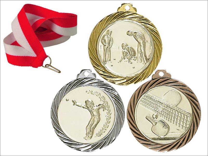 Красивая медаль 32 мм + алюминиевые вставки Gratissarfa