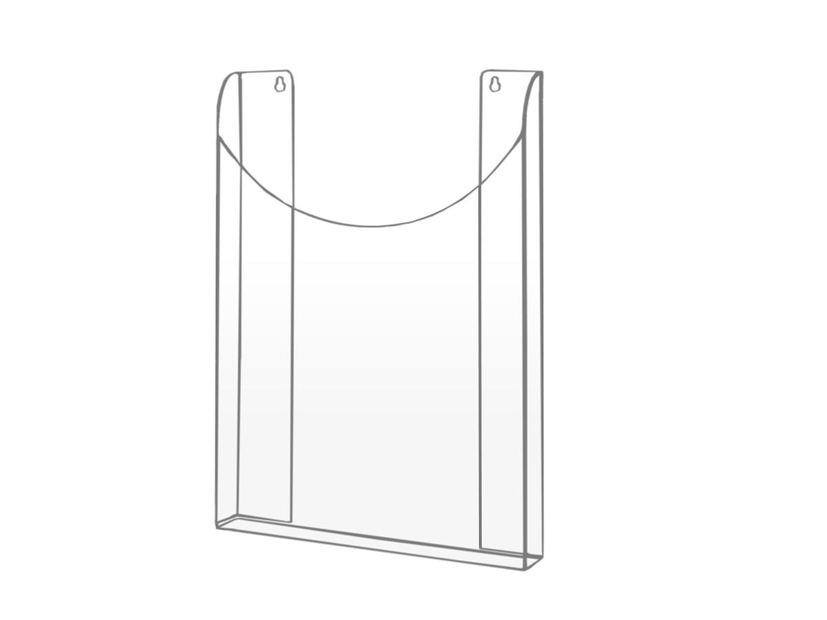 Stojan Tray Pocket Pocket Leaflets Plexi - DL