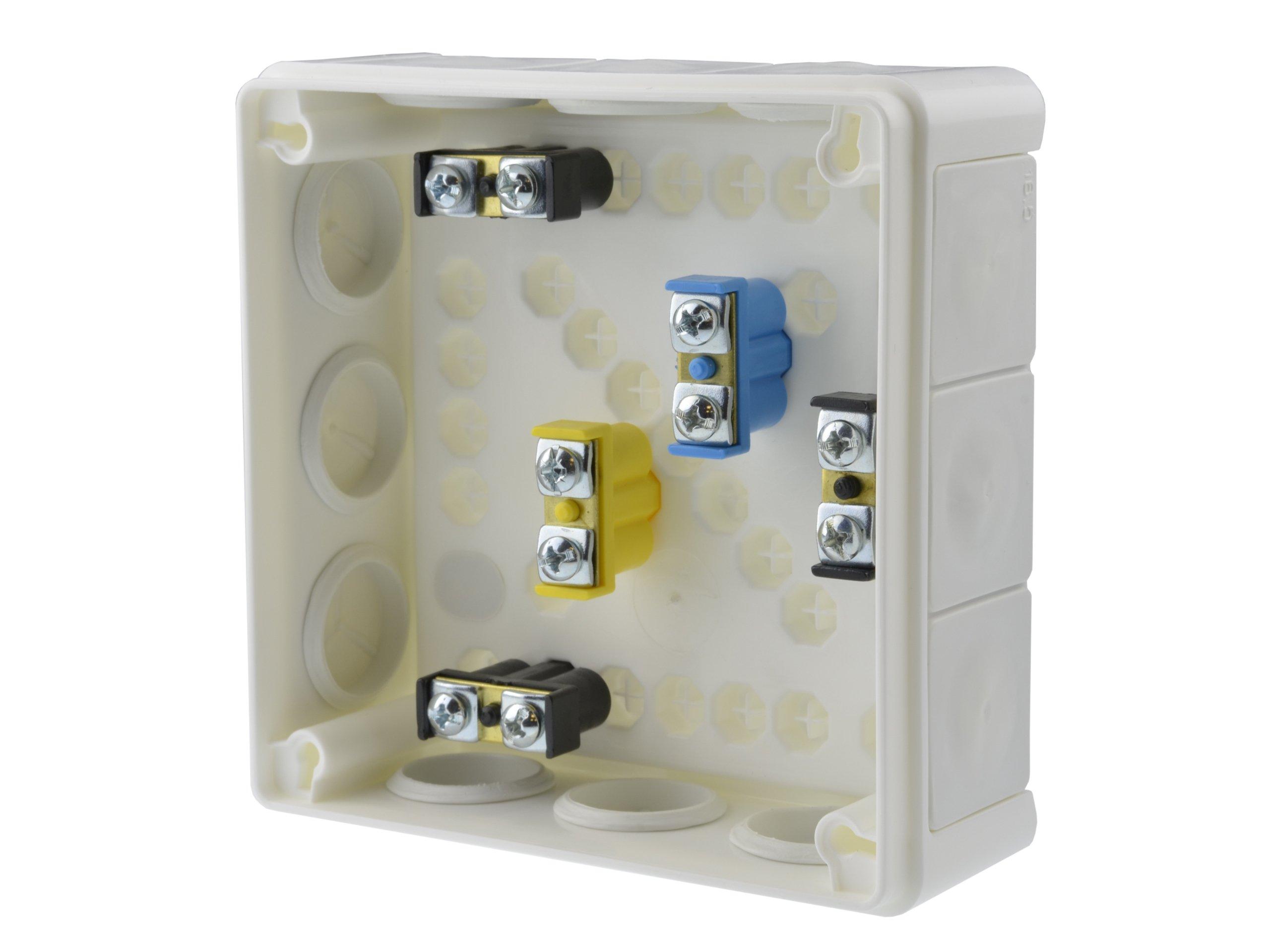 Puszka natynkowa hermetyczna biała 110x110 IP55