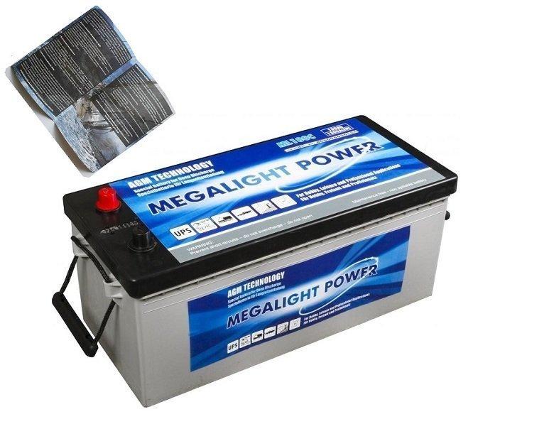AGM batérie thermotrousers MEGAlight 140 Ah PRE LODE / CAMPER