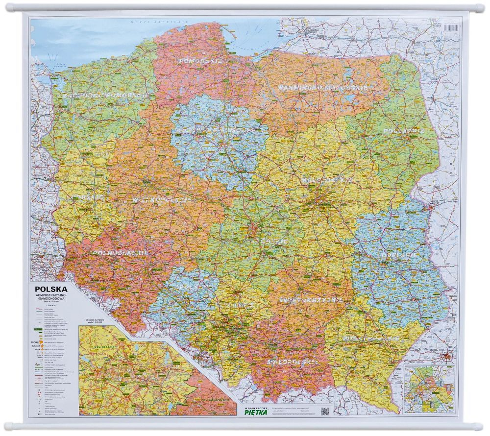 Item POLAND MAP WALL 2018 ADMINISTRATIVE AND TRAFFIC