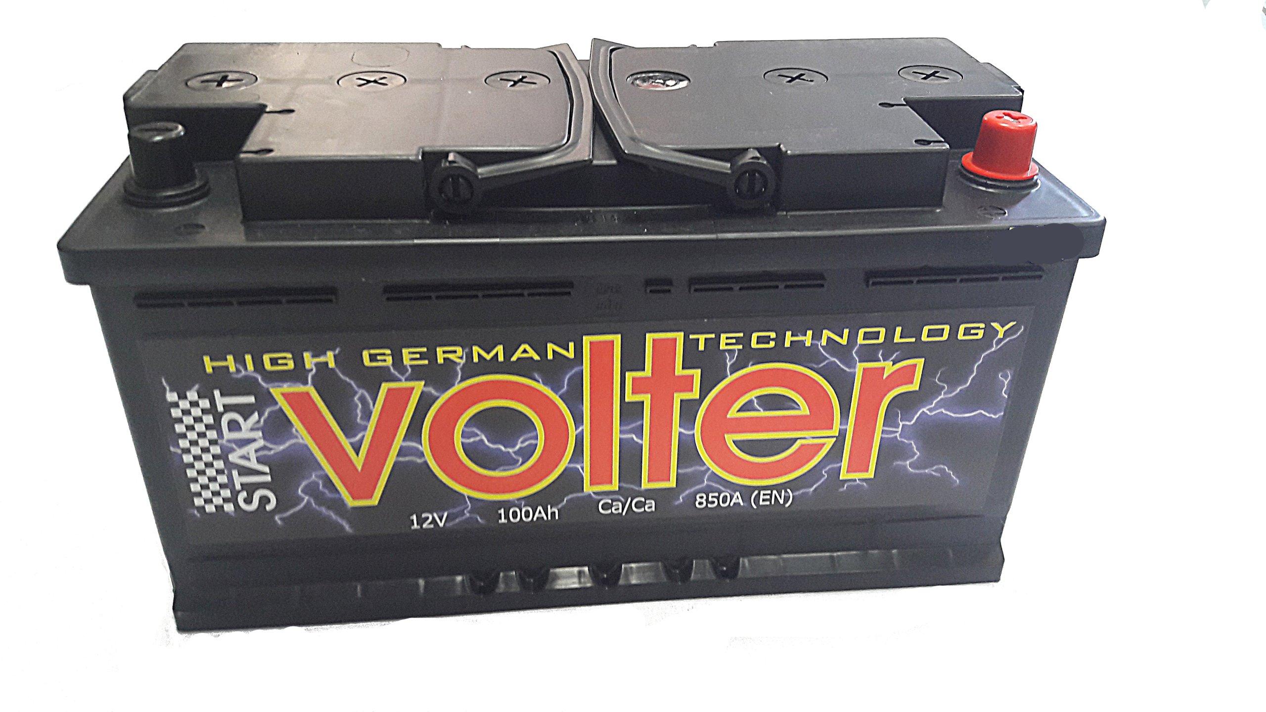 аккумулятор volter 100 ах 850a