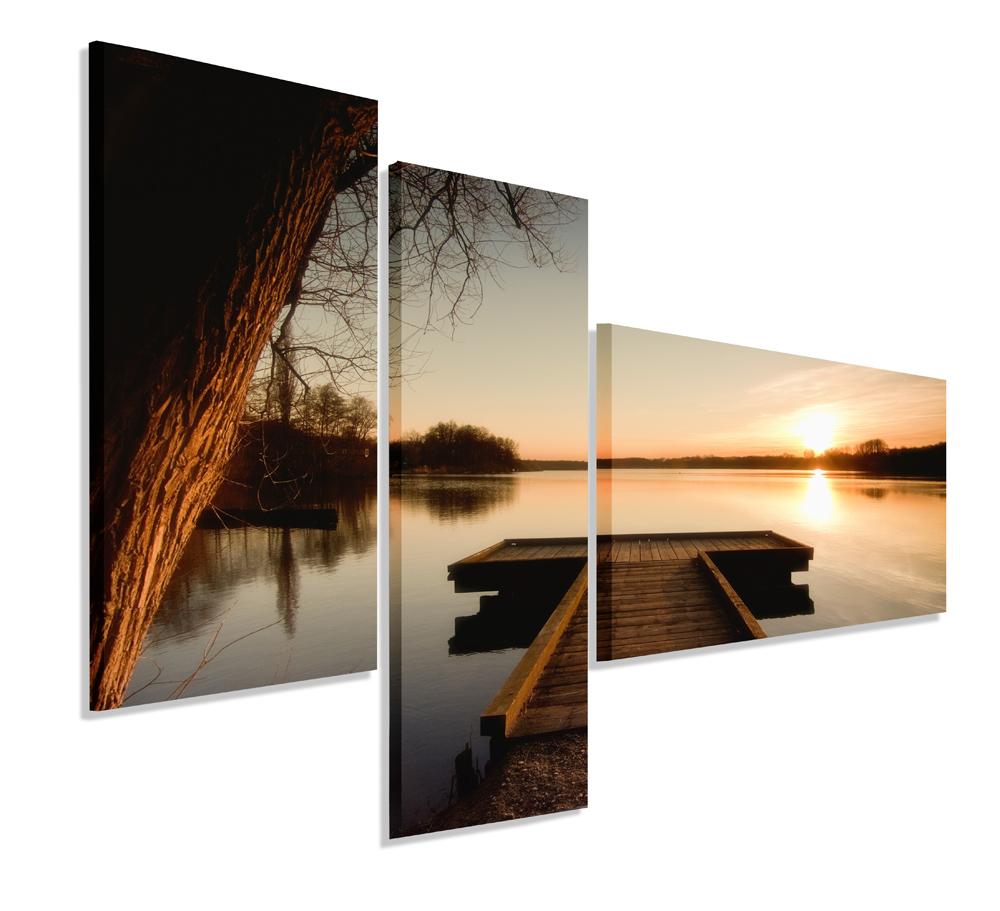Obrázok Triptych 150x100 Canvas Sunset