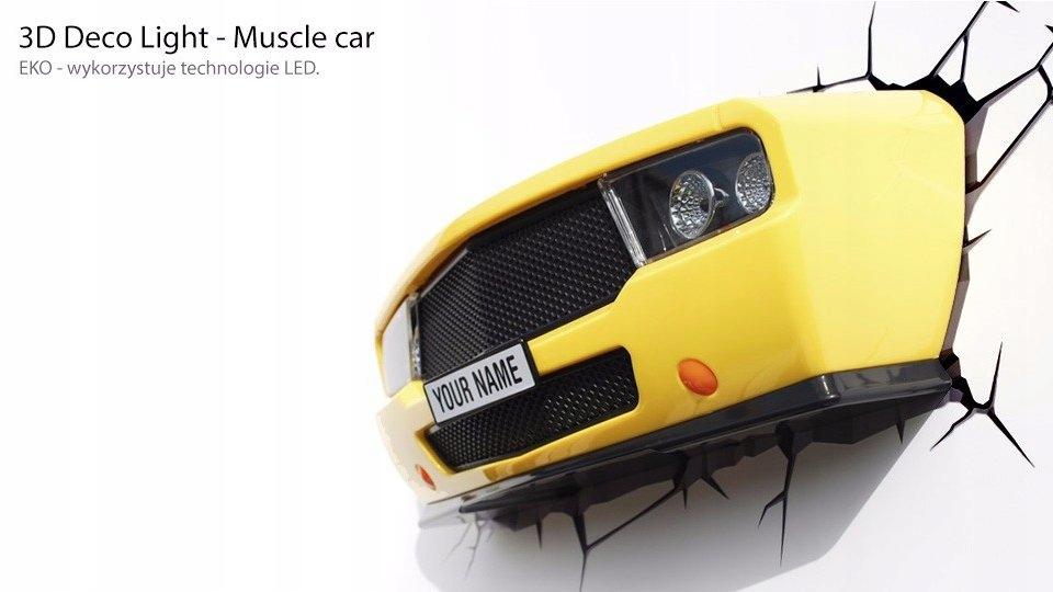 Lampka nocna Maska Samochodu Muscle Car lampa 3D