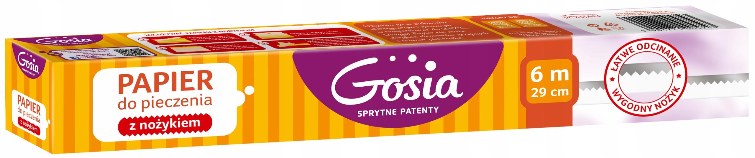 Goshia Бумага для выпечки с ножиком box 290мм 6м