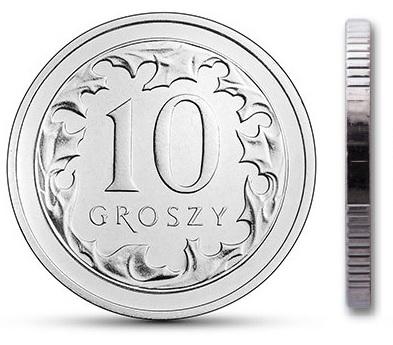 Чеканка 10 грошей 2000 года из мешочка