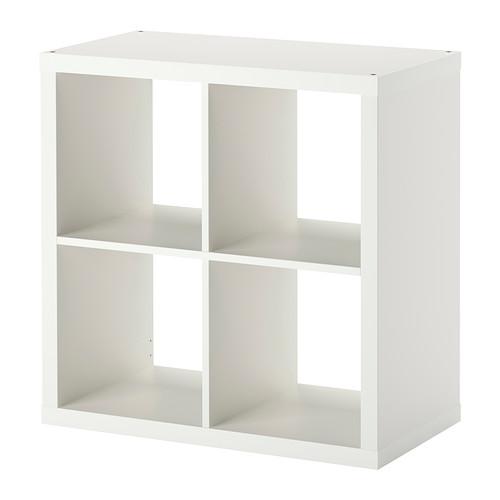 IKEA knihovníčky / Skriňa police KALLAX biela 77x77