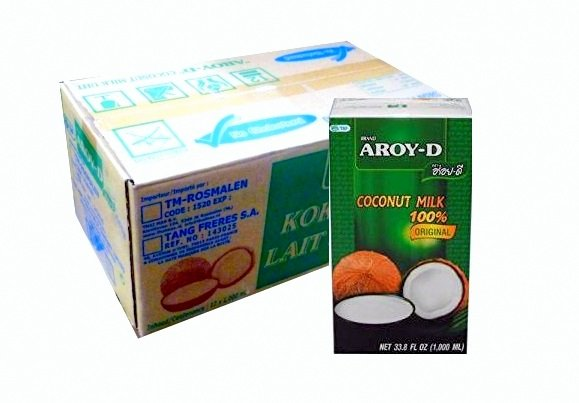 12 x 1L Kokosovým Mliekom - AROY-D, ŽIADNE KONZERVAČNÉ látky