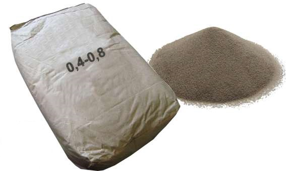 Quartz piesok 25 kg. Do čerpadla bazéna 0,4-0,8