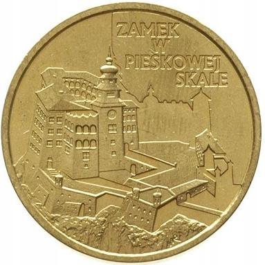 Монета 2 злотых Замок в Песковой Скале - 1997 г.