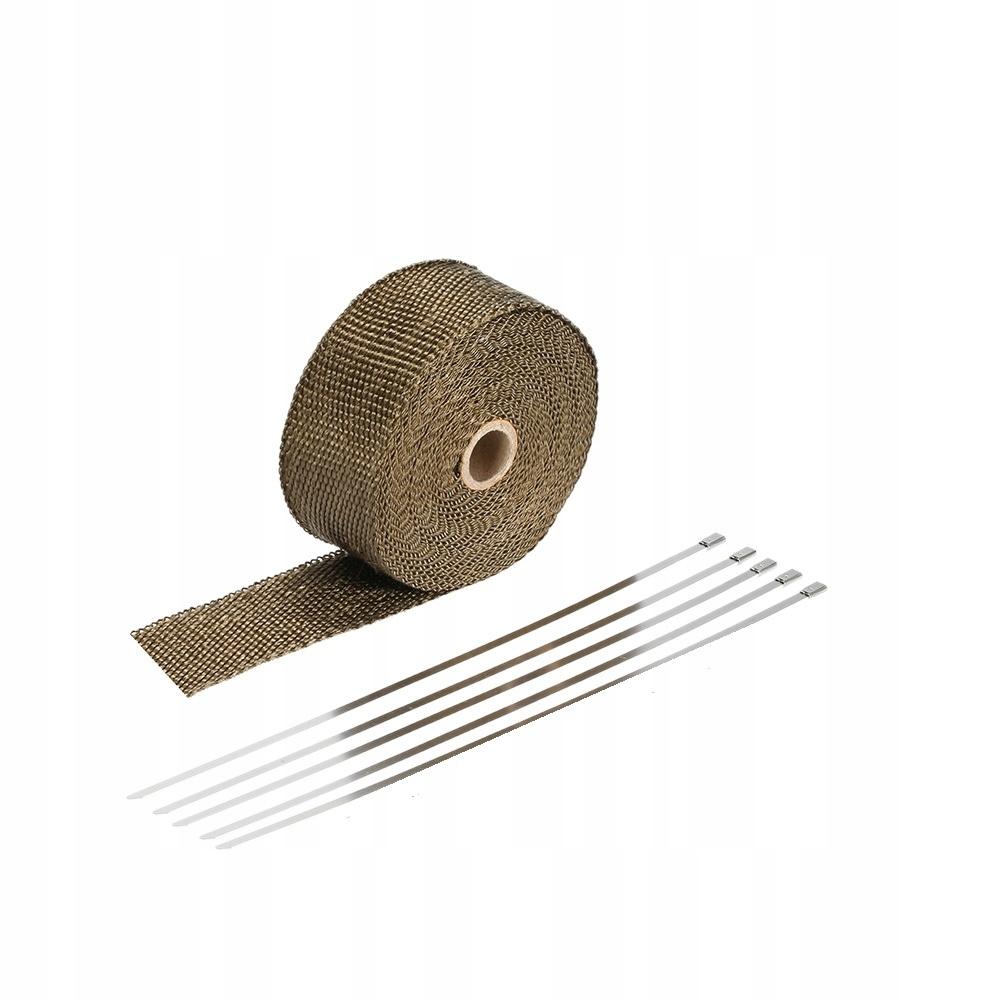 Повязка тепловая лента на выхлоп коллектор 30м+10op