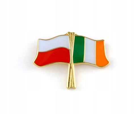 Купить Застежка pin wpinka флаг ПОЛЬША-Ирландия на Otpravka - цены и фото - доставка из Польши и стран Европы в Украину.