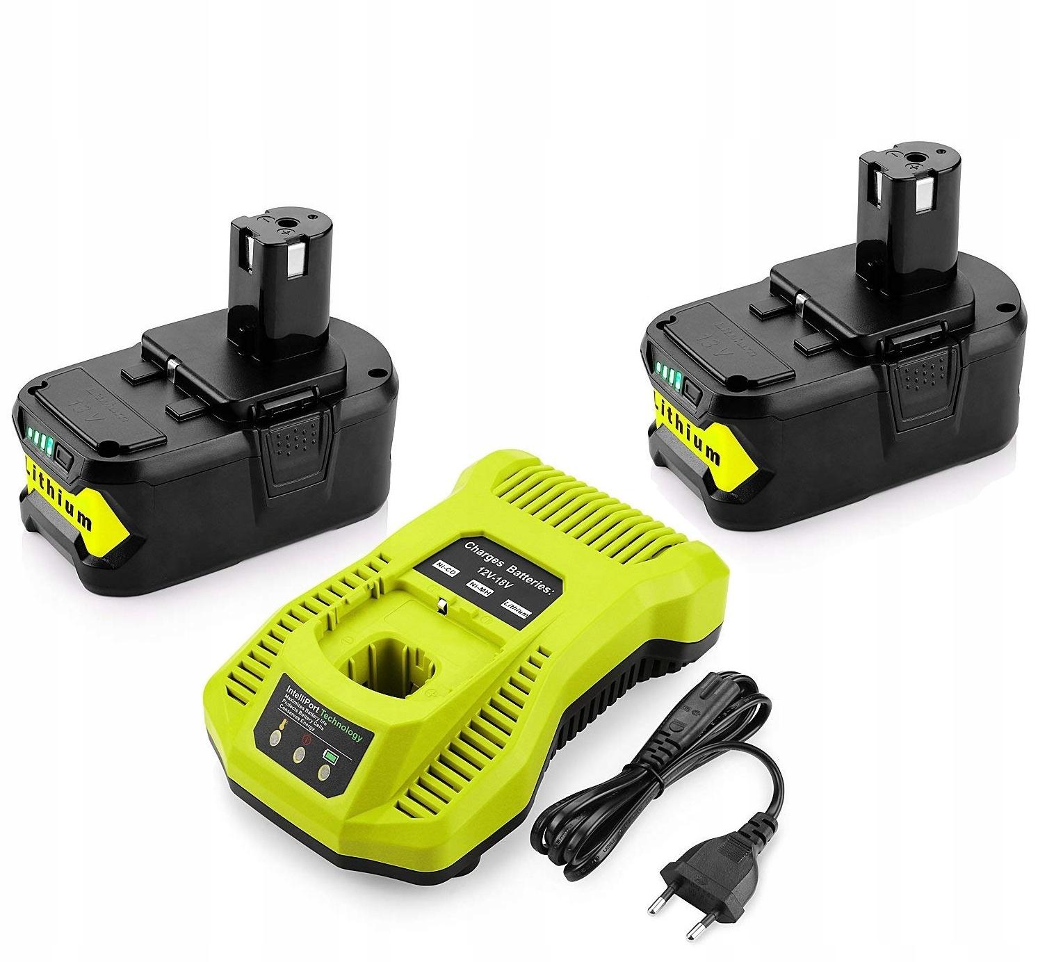 2ks batéria Nabíjačka RYOBI ONE RB18L50 18V 5A