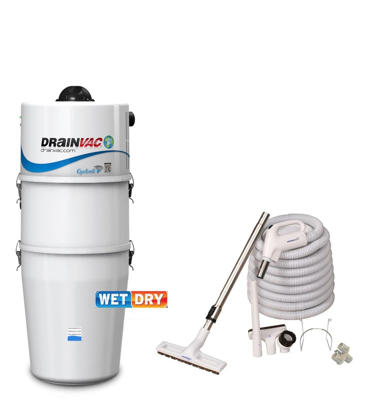 Центральные пылесосы DRAINVAC DF1R11 DRY / WET