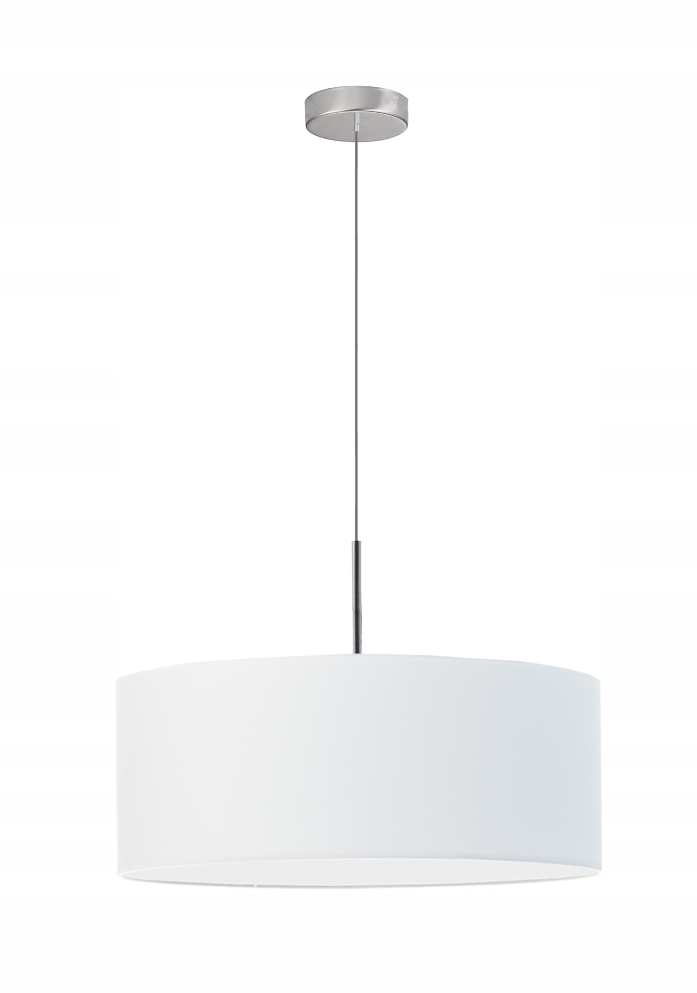 Jazz Lampa Żyrandol walec Abażur 24h fi50 biały