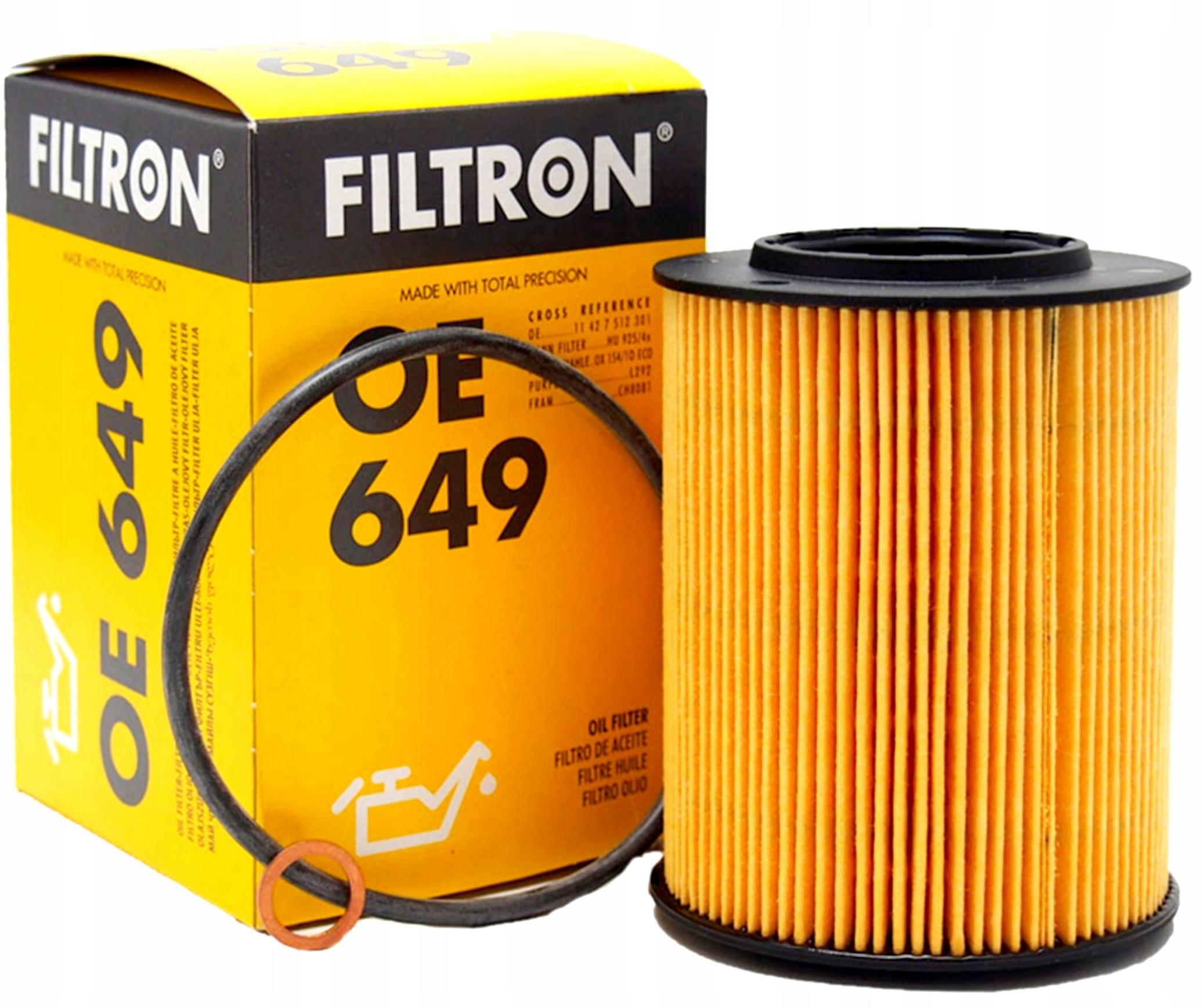 filtron фильтр масла oe649 bmw e46 3 e39 5 m52 m54