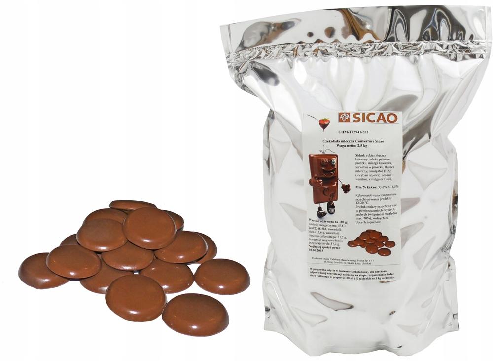 NAJLEPŠIE MLIEČNEJ Čokolády 2,5 KG parné písma