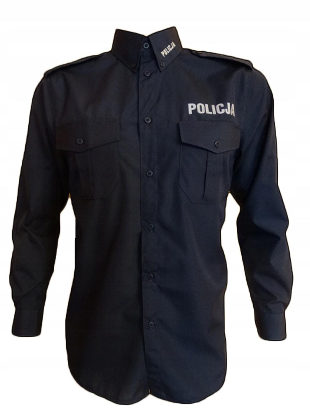 Рубашка полицейская для мужчин - размеры с длинным рукавом