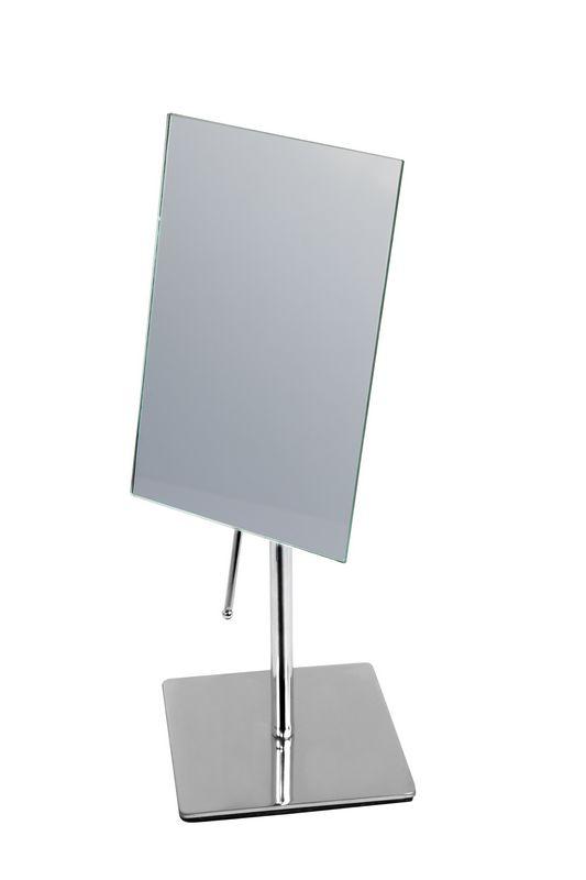 Kozmetické zrkadlá stojaci kovový chróm + sklo