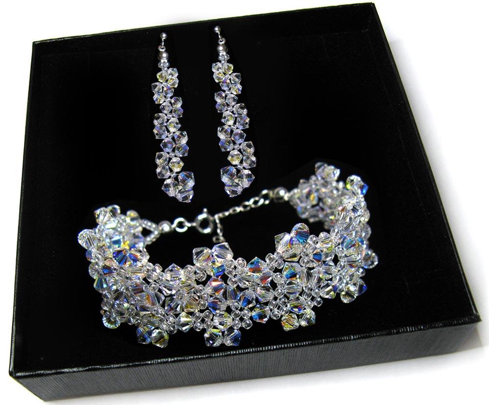 Item Bridal jewelry with Swarovski crystals Crystal AB